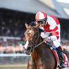 Songbird wins the 2016 Coaching Club American Oaks.<br /> Coglianese Photos/Adam Mooshian