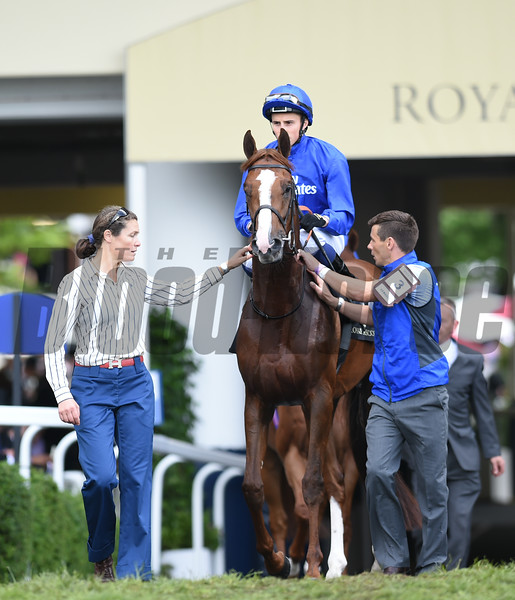 Hawkbill wins the The Tercentenary Stakes at Royal Ascot June 16, 2016.<br /> Mathea Kelley Photo