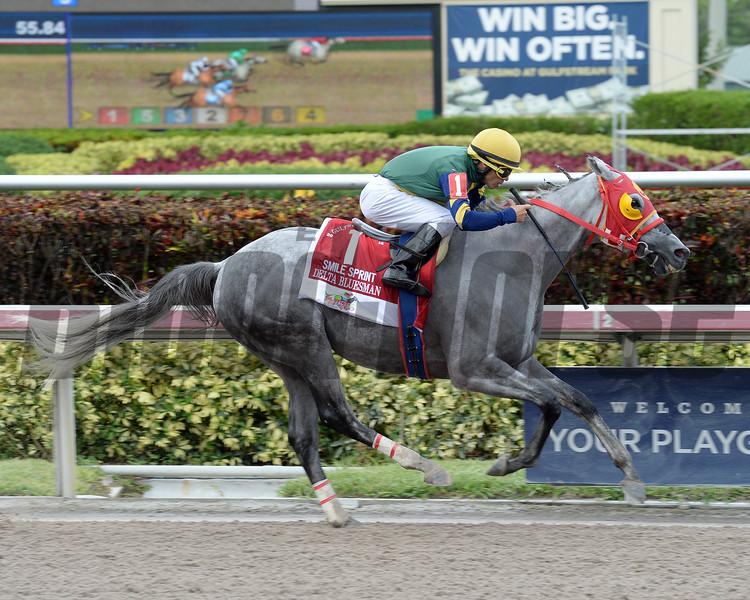 Delta Bluesman wins the 2016 Smile Sprint Stakes.<br /> Coglianese Photos/Leslie Martin
