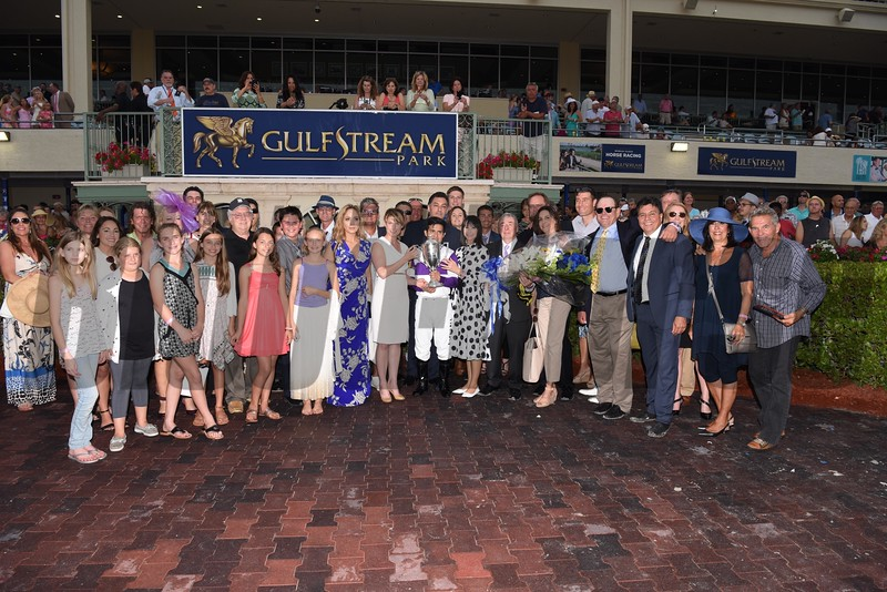 Nyquist wins the 2016 Florida Derby.<br /> Coglianese Photos