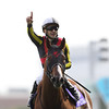 Major Emblem (JPN) wins the NHK Mile Cup in Japan May 8, 2016.<br /> Masakazu Takahashi Photo