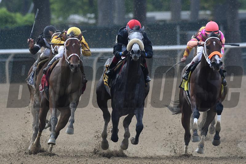 Cavorting wins the 2016 Ruffian Stakes.<br /> Coglianese Photos/Joe Labozzetta