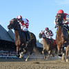 Songbird passes the clubhouse for the first time on the way to the win in the 136th running of The Alabama at Saratoga Race Course Aug. 20, 2016 in Saratoga Springs, N.Y.  Photo by Skip Dickstein