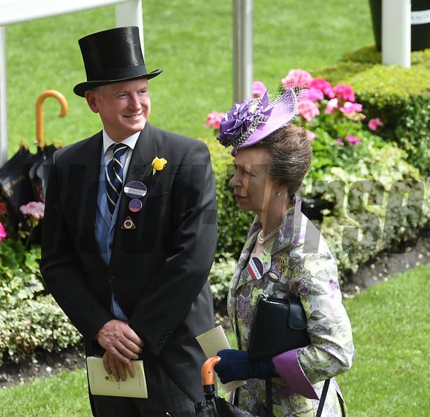 Mr. Farrish and Princess Anne<br /> Royal Ascot, UK <br /> 6/15/16<br /> Mathea Kelley