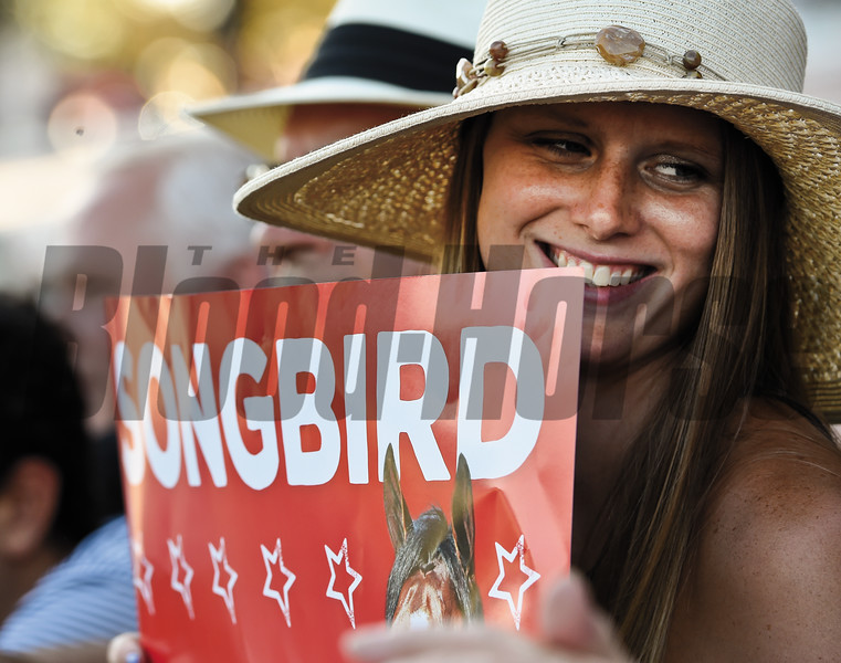 Songbird wins the 136th running of The Alabama at Saratoga Race Course Aug. 20, 2016 in Saratoga Springs, N.Y.  Photo by Skip Dickstein