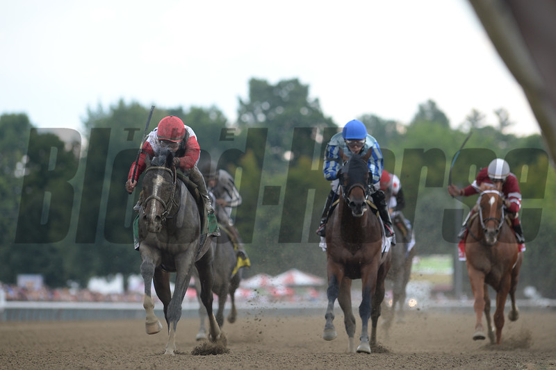 Bitumen wins the 2016 Sanford Stakes.<br /> Coglianese Photos