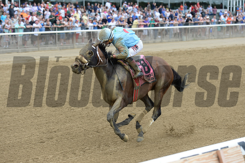 Bust Another wins the Mike Lee Stakes at Belmont Park May 30, 2016<br /> Coglianese Photos/Chelsea Durand