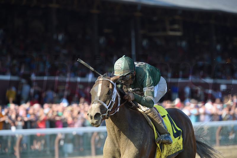 Sweet Loretta wins the 2016 Schuylerville.<br /> Coglianese Photos/Adam Mooshian