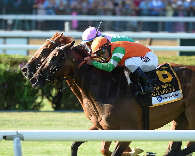 Guapaza wins the 2016 Fasig-Tipton Waya Stakes.<br /> Coglianese Photos
