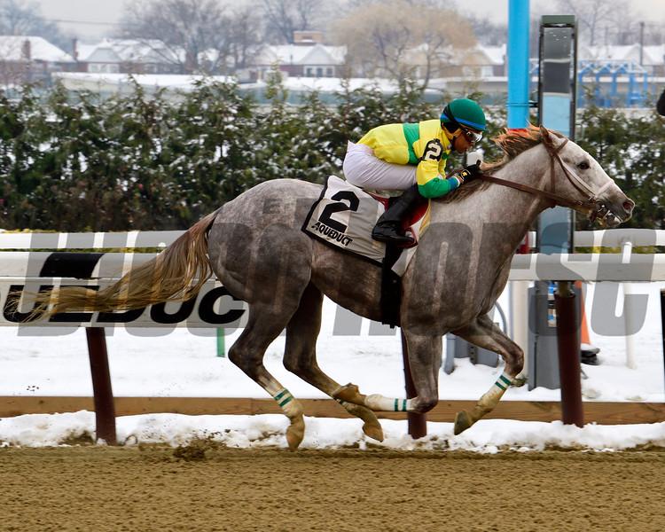 Bavaro wins the 2016 Great White Way Division of the New York Stallion Series Stakes<br /> Coglianese Photos/Robert Mauhar
