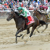 Bar of Gold wins the Critical Eye Stakes at Belmont Park May 30, 2016<br /> Coglianese Photos/Chelsea Durand