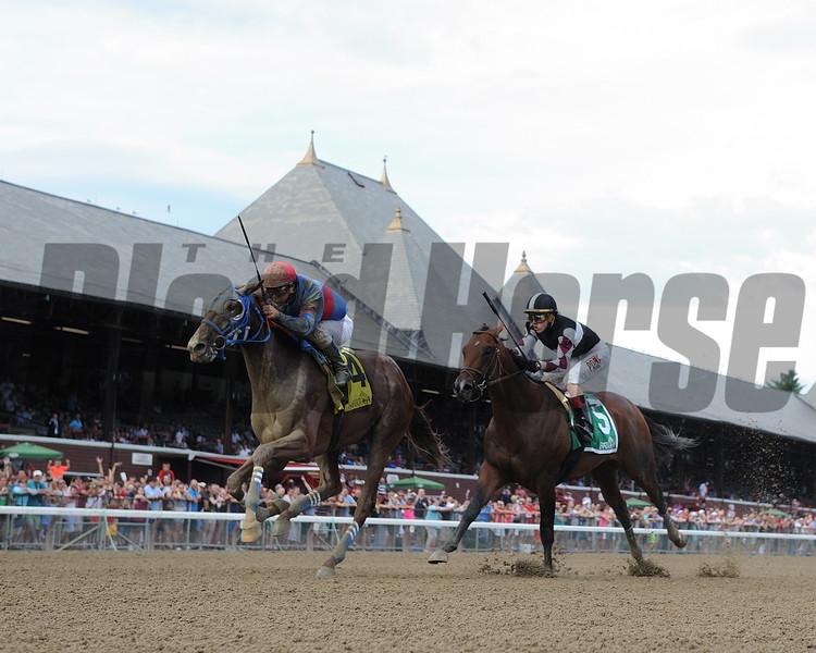 Gunnevera wins the Saratoga Special Stakes Aug. 14, 2016.<br /> Coglianese Photos