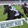 Flintshire with Javier Castellano wins the Woodford Reserve Manhattan (gr. I).<br /> Coglianese Photos/Chelsea Durand