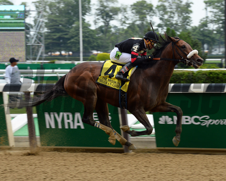 Shaman Ghost with Joel Rosario wins the Brooklyn (gr. II)<br /> Coglianese Photos/Nikki Sherman
