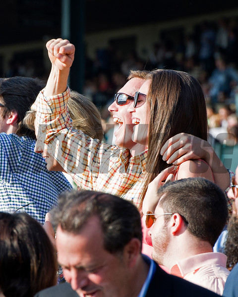 Fans<br /> Time and Motion with John Velazquez wins the Queen Elizabeth II Challenge Cup (gr. IT) presented by Lane's End at Keeneland on Oct. 15, 2016, in Lexington, Ky.