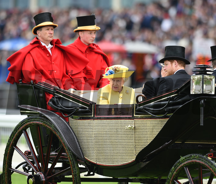 The Queen and Prince Harry at Royal Ascot