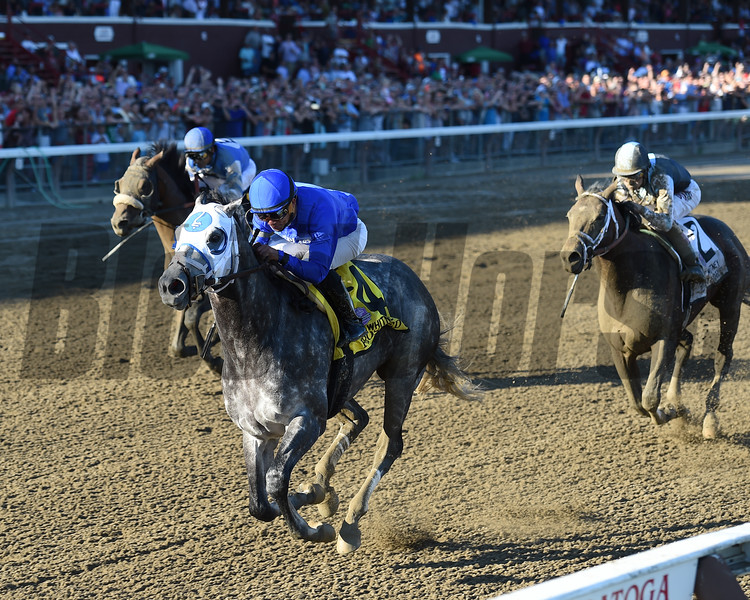 Frosted wins the 2016 Whitney.<br /> Coglianese Photos/Chelsea Durand