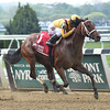 Cavorting wins the 2016 Ruffian Stakes. <br /> Coglianese Photos