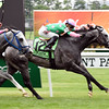 Pure Sensation, Jose Ortiz up, wins the Gr.3 Jaipur Invitational.<br /> Dave Harmon Photo