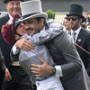 Frankie Dettori and Sheikh Jooan at Royal Ascot