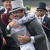 Frankie Dettori and Sheikh Jooan at Royal Ascot