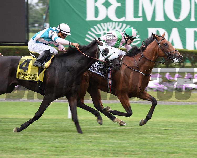 Deauville wins the 2016 Belmont Derby Invitational. <br /> Coglianese Photos