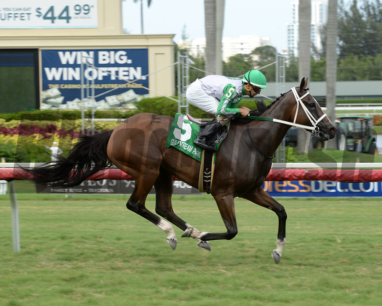 Pink Poppy wins the 2016 Spook Express Stakes.<br /> Coglianese Photos/Leslie Martin