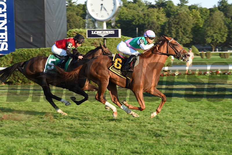 Suffused wins the 2016 Glens Falls Stakes.<br /> Coglianese Photos