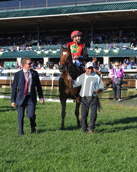 Dancing Rags with Angel Cruz aboard wins The 65th Running of The Darley Alcibiades (gr.1) at Keeneland on