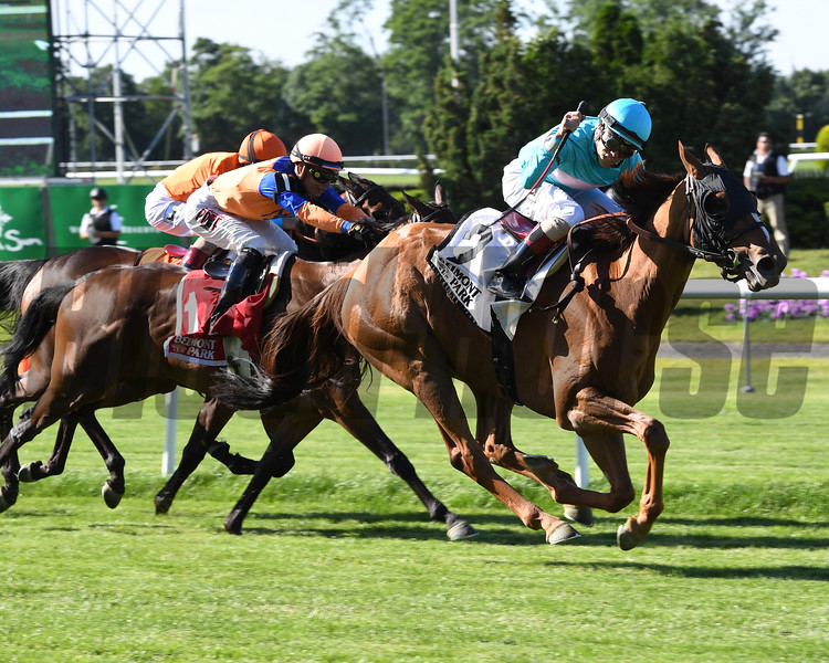 Dacita wins the 2016 New York Stakes. <br /> Coglianese Photos/Chelsea Durand
