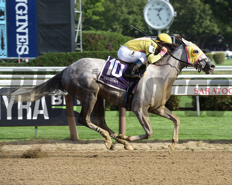 Jules N Rome wins the 2016 Saratoga Dew Stakes.<br /> Coglianese Photos/Taylor Ejdys
