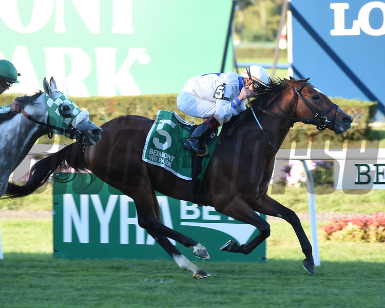 Heart to Heart wins the 2016 Knickerbocker Stakes.<br /> Coglianese Photos