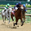 Flavien Prat guides Taris to the wire and the win in the 30th running of The Humana Distaff at Churchill Downs May 7, 2016 in Louisville, KY.  Photo by Skip Dickstein