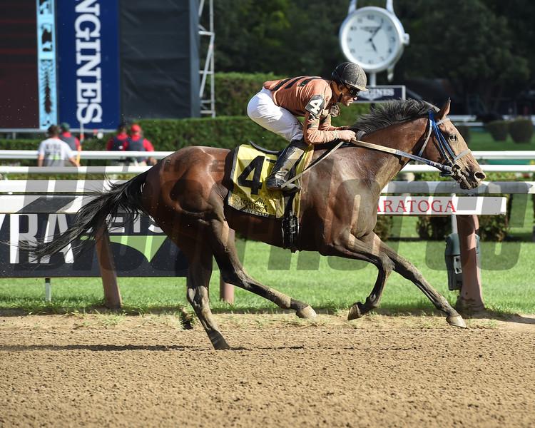 Rachel's Temper wins the Summer Colony Stakes.<br /> Coglianese Photos