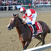 Songbird wins the 2016 Coaching Club American Oaks.<br /> Coglianese Photos/Chelsea Durand