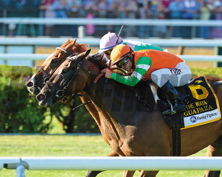 Guapaza wins the Fasig-Tipton Waya Stakes (gr. IIIT) at Saratoga.<br /> Adam Coglianese/NYRA