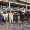 Reporting Star wins the 2016 Appleton Stakes.<br /> Coglianese Photos