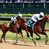Majestic Harbor wins the 2016 Alysheba Stakes.<br /> Dave Harmon Photo