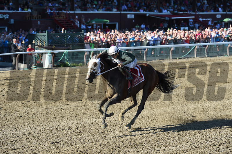 Paola Queen wins the 2016 Test Stakes.<br /> Coglianese Photos/Chelsea Durand
