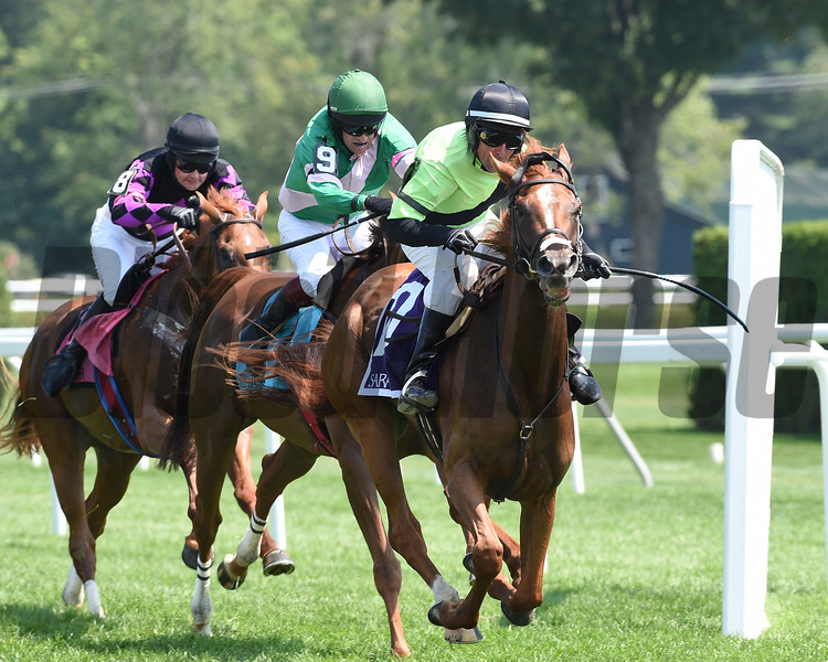 Get Ready Set Goes wins the 2016 Mrs. Ogden Phipps Handicap.<br /> Coglianese Photos