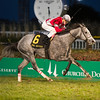 Linda with Brian Hernandez Jr. wins the Mrs. Revere (gr. II) for Whitham Thoroughbreds and Ian Wilkes on Nov. 25, 2016, at Churchill Downs.<br /> Anne M. Eberhardt Photo