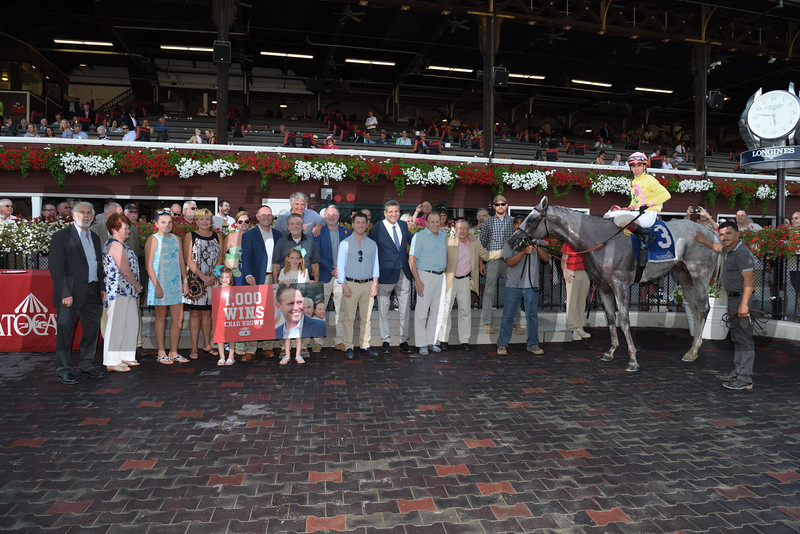 Mr Maybe wins the 2016 John's Call Stakes.<br /> Chad Brown's 1,000th career win<br /> Coglianese Photos