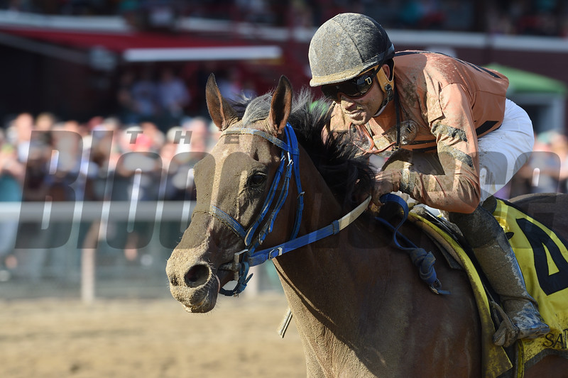 Rachel's Temper wins the Summer Colony Stakes.<br /> Coglianese Photos/Chelsea Durand