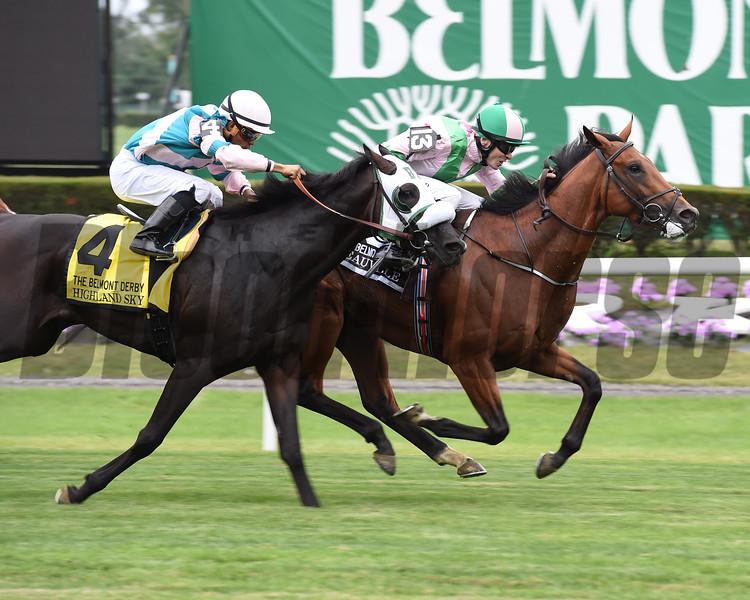 Deauville wins the 2016 Belmont Derby Invitational. <br /> Coglianese Photos/Susie Raisher