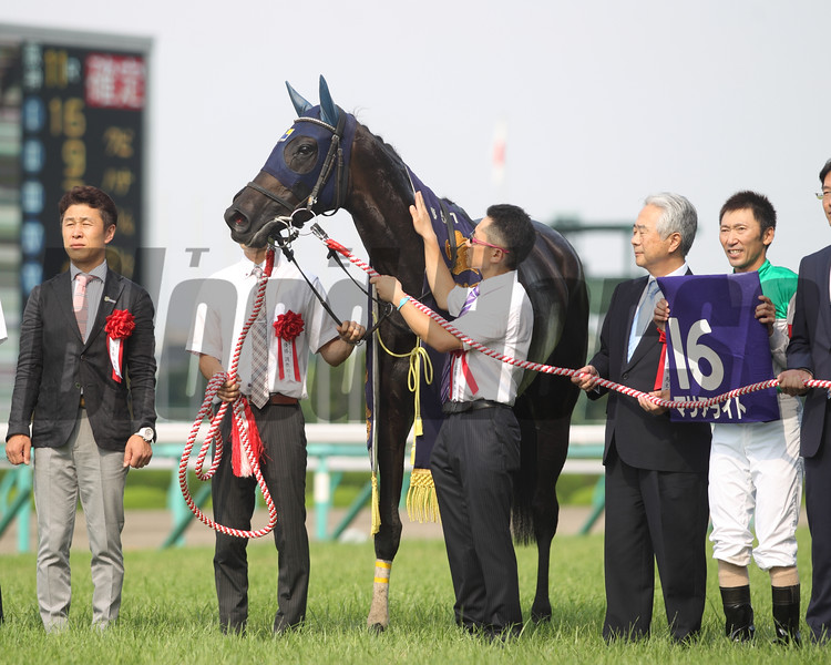 Marialite (JPN) wins the Takarazuka Kinen June 26, 2016 in Japan.<br /> Masakazu Takahashi Photo