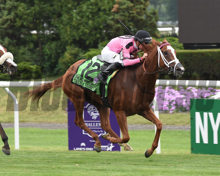 Catch a Glimpse wins the 2016 Belmont Oaks Invitational.     <br /> Coglianese Photos