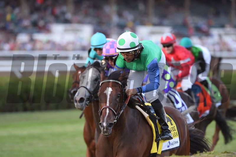 Lady Lara wins the Fasig-Tipton De La Rose Stakes at Saratoga.<br /> Coglianese Photos/Adam Mooshian