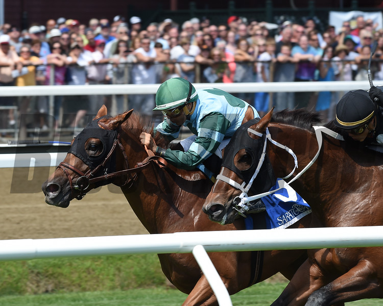 Harlan's Harmony wins the 2016 Skidmore Stakes<br /> Coglianese Photos/Chelsea Durand
