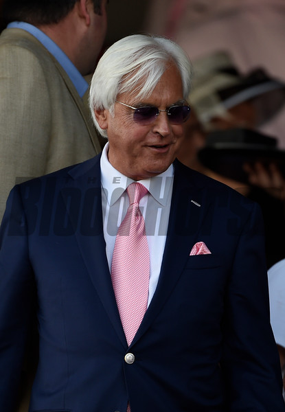Arrogate's trainer Bob Baffert is all smiles after winning the 147th running of the Travers Stakes at Saratoga Race Course August 27, 2016 in Saratoga Springs, N.Y.  Photo by Skip Dickstein