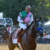 Arrogate wins the 2016 Travers Stakes.<br /> Coglianese Photos/Adam Mooshian